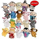 THE TWIDDLERS 20 Marionetas para Dedos con Animales adorables en Múltiples Colores - Perfectos para Detalles de Fiesta - Rellenos de Bolsas de Fiesta y Calcetines - Premios de Clase