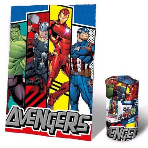 Marvel - coperta in pile avengers kd per letto, copriletto e copriletto, unisex, per adulti, multicolore (multicolore), unica