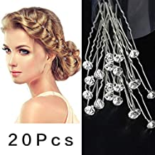 Perni di capelli di cristallo strass Clip di capelli da sposa con clip di  capelli con 1555e8d251e8