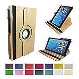 Case Cover für Samsung Galaxy Tab S2 9.7 LTE (SM T-815) Tablet Schutzhülle Etui mit Touch Pen & Standfunktion - 10.1 Zoll Beige 360°