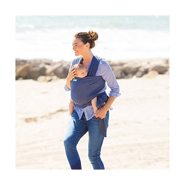 MOBY Evolution Baby Wrap Carrier for Newborn to Toddler up to 30lbs, Baby Sling from Birth, One Size Fits All, Breathable Stretchy Made from 70% Viscose 30% Cotton, Unisex Moby 70% Viscose / 30% Cotton Knit One-size-fits-all Grows with baby, from newborn to toddler 30
