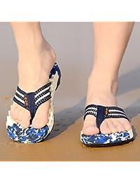 Xing Lin Sandales Pour Hommes L'Été Nouveau Tong Men'S Tongs Chaussures De Plage Plage Chaussons Anti-Dérapants Wasp Sandales Et Pantoufles Marée Hommes Camouflage Bleu 39