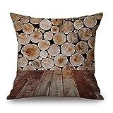 hshi Woodgrain und Kreativität, Steine, gedruckt Leinen Sofa Kissenbezug Heimdekoration (45x 45cm, g, 1