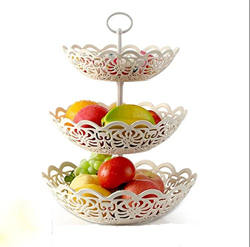 pengweiKreatives Mehrschicht - Obstkorb Obstteller Drei - Ebenen - Obstteller