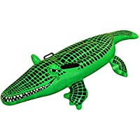 Islander Fashions Inflatable Crocodile 150cm Summer Beach Pool Party Alligator Blow Up Float Toy