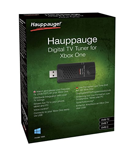 Hauppauge Xbox One mit win10Freeview HD USB Stick–schwarz