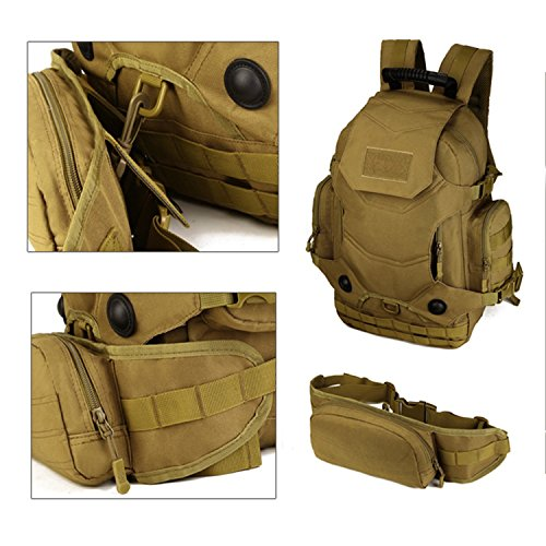 Cinmaul tattico militare zaino Zaino assalto molle modulare attacchi grande Duty Gear borsa zaino con patch Outdoor Gear per caccia di campeggio trekking, Uomo, Black Black