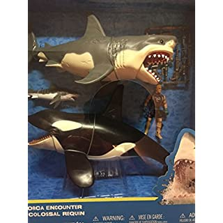 Great White Shark & Killer Whale Playset - Animal Planet by Animal Ocean & Prehistoric Discovery
