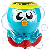 Gadgy ® Seifenblasenmaschine Kinder | 236 ml Seife für Seifenblasen Inbegriffen | 20 cm Hoch | Automatischer Batteriebetrieb | Bubble Machine mit Leuchtende Augen