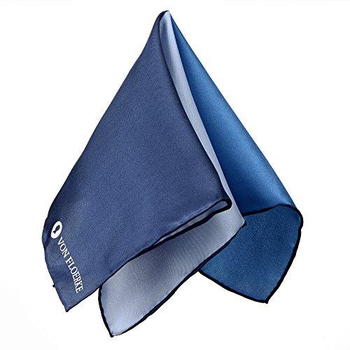 Handrolliertes Einstecktuch 100% Seide – blau – Stecktuch Kavalierstuch – Größe 30x30cm – aus der Kollektion