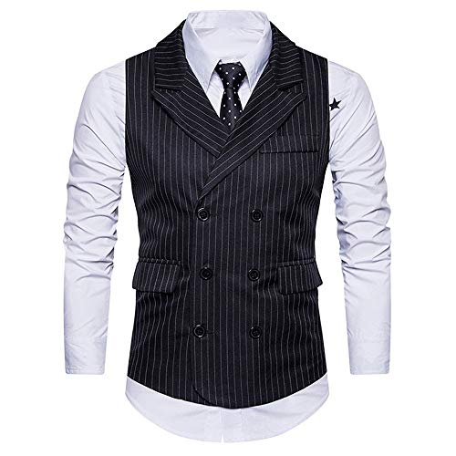 Luckycat Neuer Männer Formale Tweed Check Zweireiher Weste Retro Slim Fit Anzugjacke Mode 2018 - Check Tweed-jacke