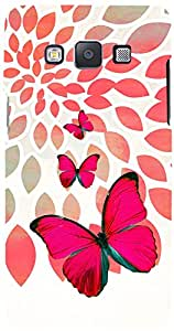 PRINTVISA Girly Butterfly Case Cover for Samsung Galaxy E7 (Multicolour)