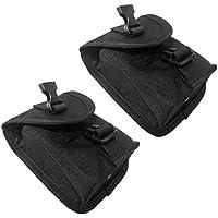 Sharplace 2x Escafandra Bolsillo de Cinturón Peso Buceo Accesorio de 14 x 12 x 4 cm Durable
