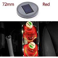 Ocamo Almohadilla Pad Antideslizante Decoración Interior del Coche,72mm Automóvil LED Taza de Agua Copa de Energía Solar