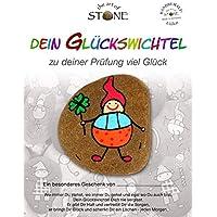 MaMeMi Natursteinrelief Das Gl/ück Gr/össe 14,5 x 14,5 cm