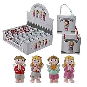 """1 Box Schutzengel """"Jill&Jo"""" in Tüte - tolle kleine Schutzengel / Glücksbringer für Kinder & Erw."""