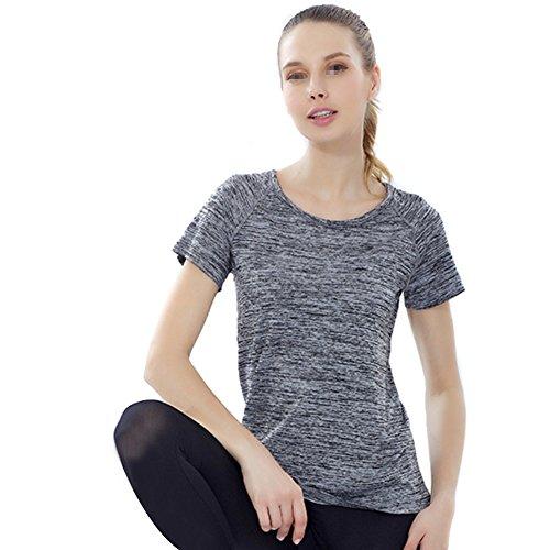 Preisvergleich Produktbild Fletion Damen Sommer Lose Schnell Trocknend Kurzarm T-Shirt Casual Bluse Tops Für Sport Fitness Yoga