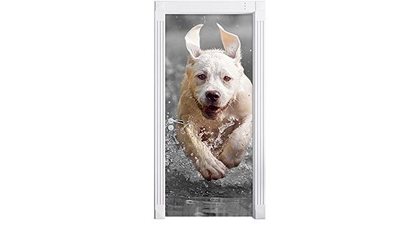 Türaufkleber 200x90cm Türtapete Türsticker Hundewelpe