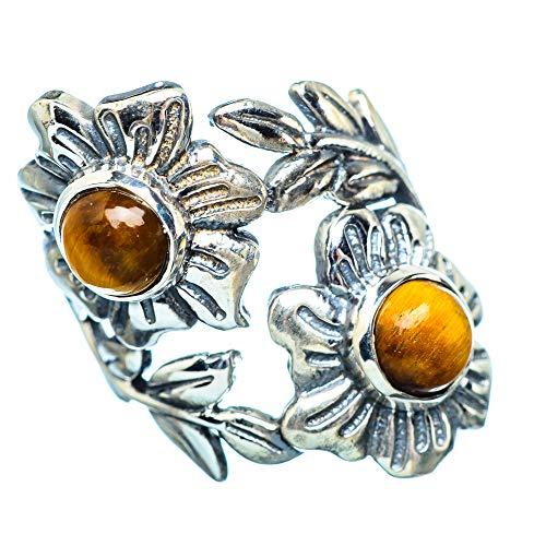Tiger Eye, Tigerauge 925 Sterling Silber Ring 6.5 (Ana Silver Co Ringe)