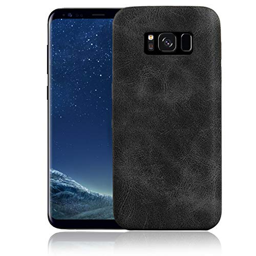Numerva Samsung Galaxy A3 2016 Hülle, Schutzhülle [Kunst-Lederhülle Leder Optik] Ultra Slim Cover für Samsung Galaxy A3 2016 Handyhülle TPU Case [Schwarz]