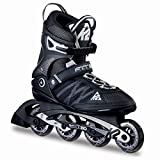 K2 Herren Inline Skates Fit 80, ABEC 5 Kugellager 80mm Rollen 80A Softboot, schwarz 43.5 EU (9 UK), 30A0003.1.1.100