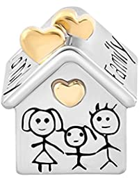 Uniqueen Family House Home Charm fits Charms Bracelet
