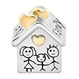 Uniqueen Family House Home charm Fits charms, base metal, cod. UQ_DPC_MY504
