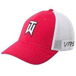 Nike GOLF TW TOUR MESH CAP new logo LEGION RED/WHITE//BLACK M/L