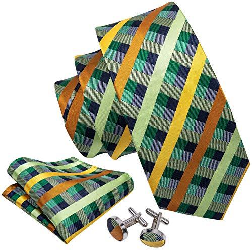 Barry.Wang Lazos tela escocesa corbata set