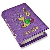 Gotteslob Gotteslobhülle Kelch Traube Filz mit Namen bestickt (lila)
