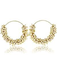 Hot Selling Traditional Pearl Jewellery Stylish Fancy Party Wear Jhumka/Jhumki Earring For Girls/Women