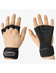 Weight Lifting Gloves Fitness Gym Training Gloves Long Wrist Wrap Gloves (negro, L (for Men))