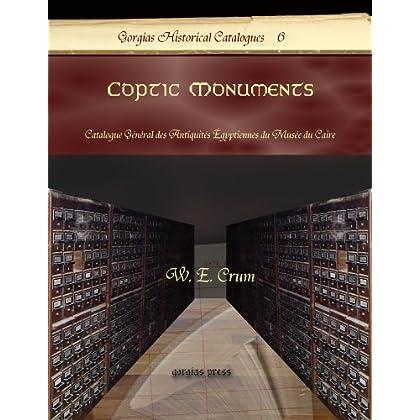 Coptic Monuments: Catalogue General Des Antiquites Egyptiennes Du Musee Du Caire