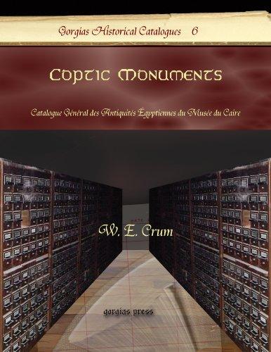 Coptic Monuments: Catalogue General Des Antiquites Egyptiennes Du Musee Du Caire par W.E. Crum