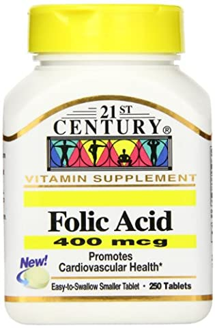 21st Century Health Care, Folsäure - 400mcg x250tabs - Folic Acid