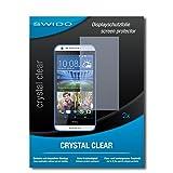 SWIDO Schutzfolie für HTC Desire 620G Dual SIM [2 Stück] Kristall-Klar, Hoher Härtegrad, Schutz vor Öl, Staub & Kratzer/Glasfolie, Bildschirmschutz, Bildschirmschutzfolie, Panzerglas-Folie