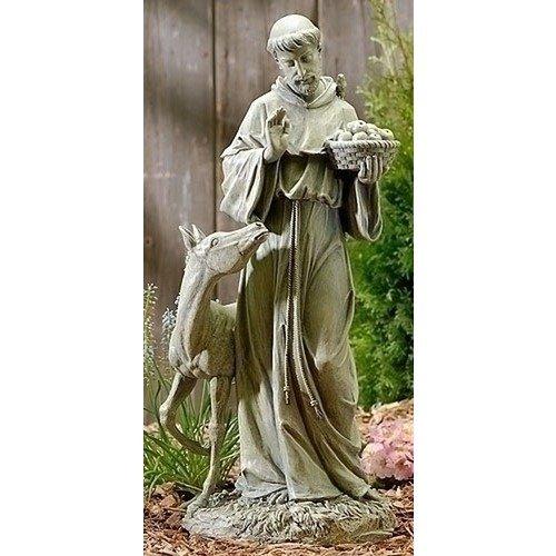 Joseph Studio 90789hoch St. Francis mit Pferd Statue, 64,8cm -