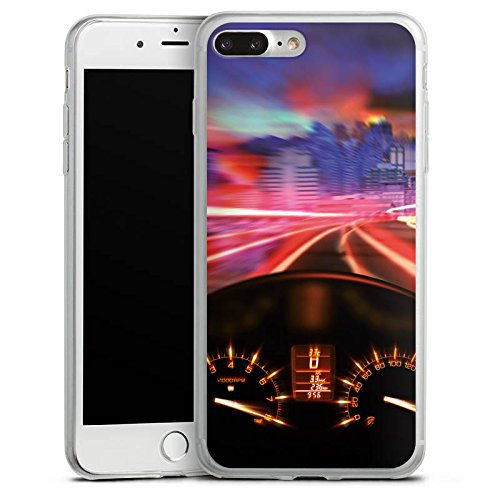 Apple iPhone 8 Slim Case Silikon Hülle Schutzhülle Motorrad Tacho Speed Silikon Slim Case transparent