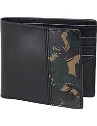 Fred Perry Camouflage étui portefeuille en cuir véritable noir avec pointe contre pour homme Coffret cadeau