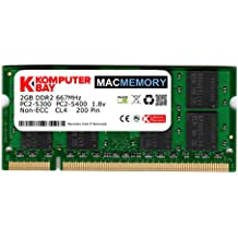 Komputerbay MACMEMORY Apple 2GB (solo 2GB) PC2-5300 667MHz DDR2 SODIMM iMac y Macbook Memoria