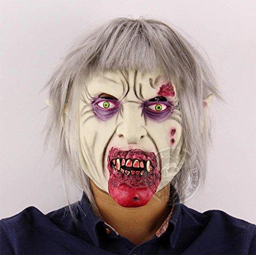 pir Zombie Zombie Terror Geist Halloween Bar Kammer des Schreckens Flucht verkleiden Requisiten Emulsion schaurig Maske ()