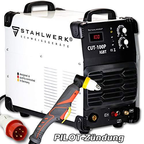 STAHLWERK CUT 100 P IGBT Plasmaschneider mit 100 Ampere, Pilot-Zündung, bis 44 mm Schneidleistung, für Flugrost geeignet, weiß, 5 Jahre Garantie*
