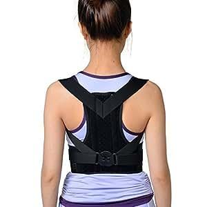 Busto ortopedico per schiena, colore: nero