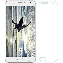 Protector de pantalla Cristal templado para Meizu Mx5  Calidad HD, Grosor 0,3mm, Bordes redondeados 2,5D, alta resistencia a golpes 9H. No deja burbujas en la colocación (Incluye instrucciones y soporte en Español)