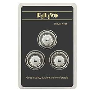 BigbigWo 3 pièces Acier inoxydable Lavable Tête de Rasoir Rasage Rechange + Brosse pour Rasoir Philips PT860