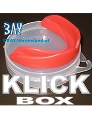 BAY® CE Klick Zahnschutz Sport Mundschutz mit Box Dose