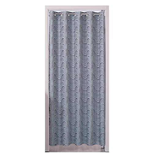 Zlian door curtain - home decoration invia asta telescopica anti-dust blackout punch free air conditioning partition tenda per la camera di misura (colore : bronzo, dimensioni : 150 * 230cm)