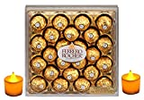 #8: Ferrero Rocher Gift Box, 24 Count...- Combined with 2 Natural Yellow LED DIYA