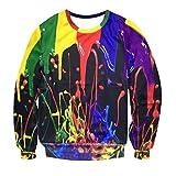 Manadlian Herren Hoodies Sweatshirt Pullover Mode Lange Ärmel Splash-Tinte 3D Gedruckt Sweatshirt Mehrfarbig Bluse