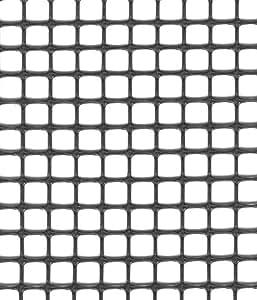 tenax 1A050288 Quadra 10 - Rete Protettiva Multiuso, Colore: Grigio Antracite